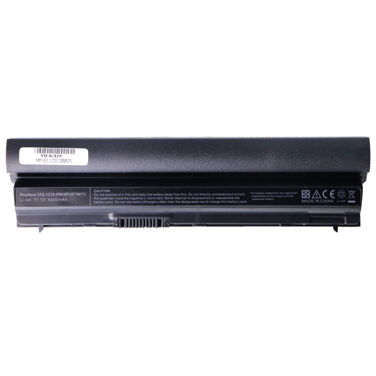 Denaq 6-Cell 4400 mAh Li-Ion Battery for Select Dell Latitude Laptops (NM-9GXD5)