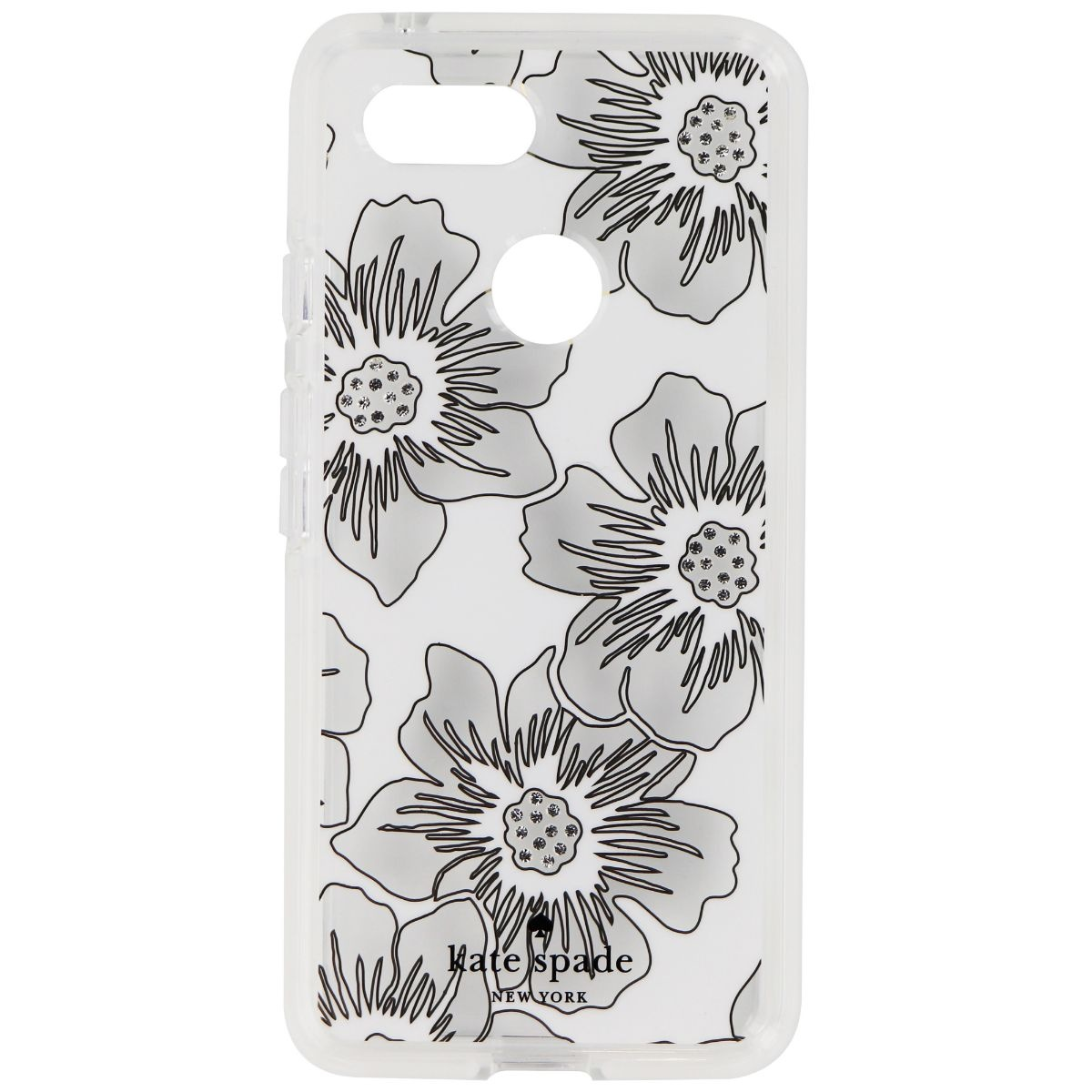 Kate Spade Defensive Hardshell Case for Google Pixel 3 - Reverse Hollyhock/Cream