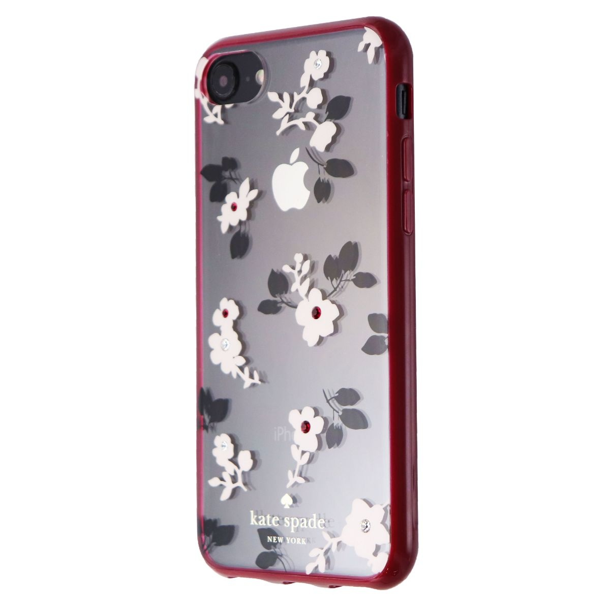 Kate Spade Protective Case for iPhone 7 - Jeweled Daisy Garden (Clear / Flowers)