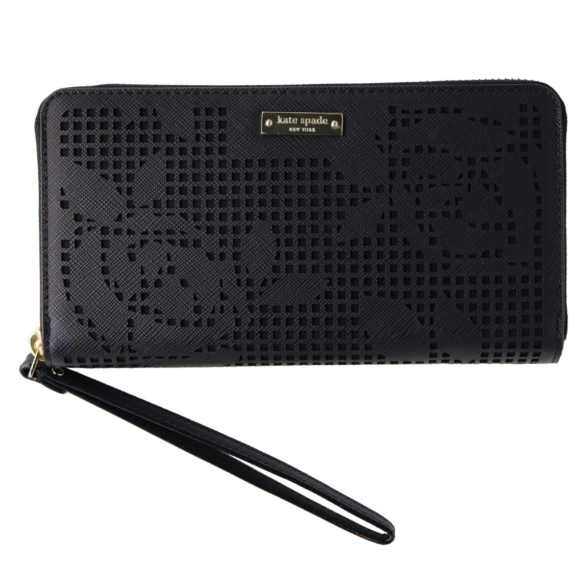 Kate Spade New York Zip Wristlet Wallet - Fits Most Phones - Black