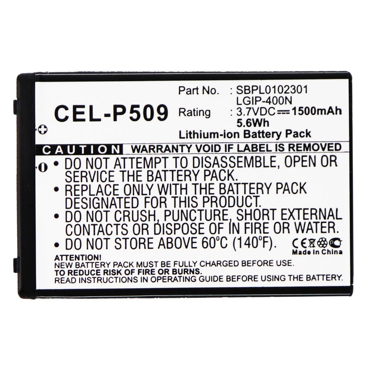 UltraLast Rechargeable Battery for Select LG Smartphones - CEL-P509