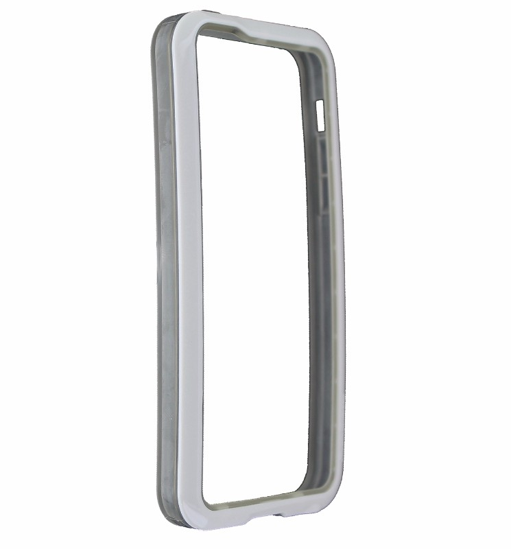 Qmadix S Series Bumper Case Cover for iPhone 5C- White / Frost
