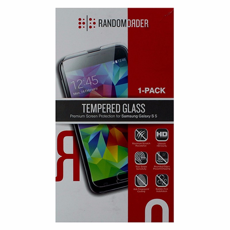 Random Order Tempered Glass Screen Protector for Samsung Galaxy S5 - Clear