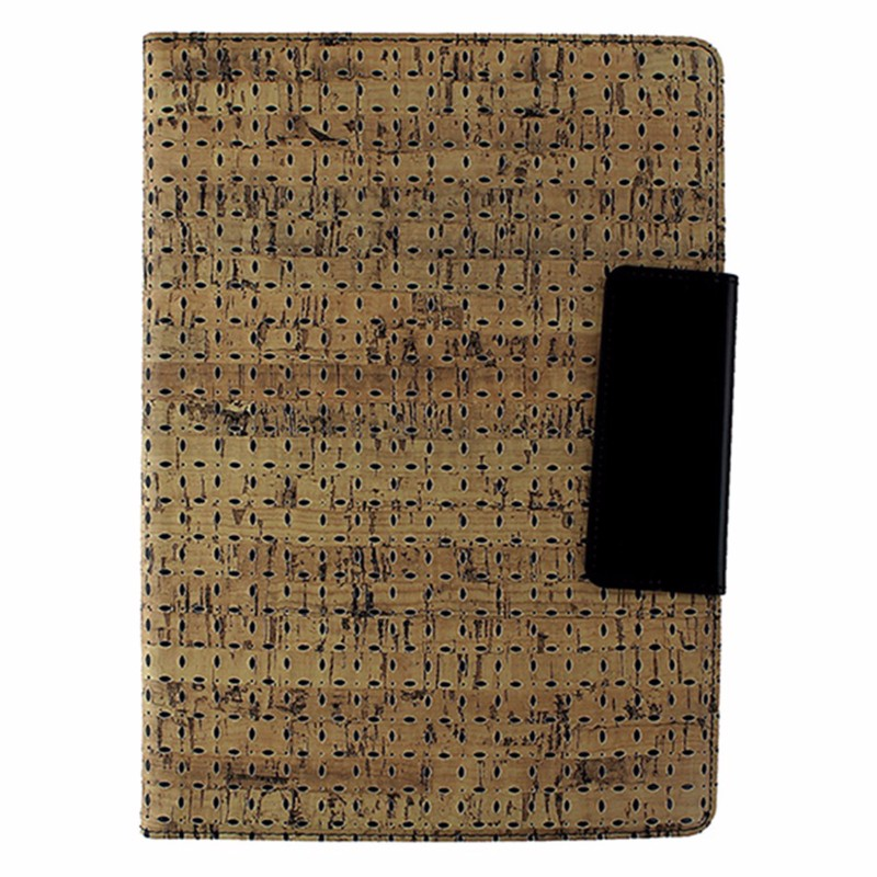 M-Edge Universal XL Stealth Folio Case for 9 to 10-inch Tablets - Tan Cork/Black