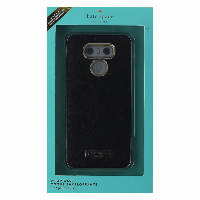 Kate Spade New York Wrap Series Hardshell Case for LG G6 - Saffiano Black/Gold