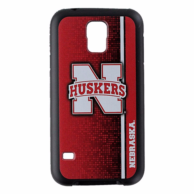 NCAA Nebraska Huskers Rugged Series Phone Case for Samsung Galaxy S5 - Red/Black