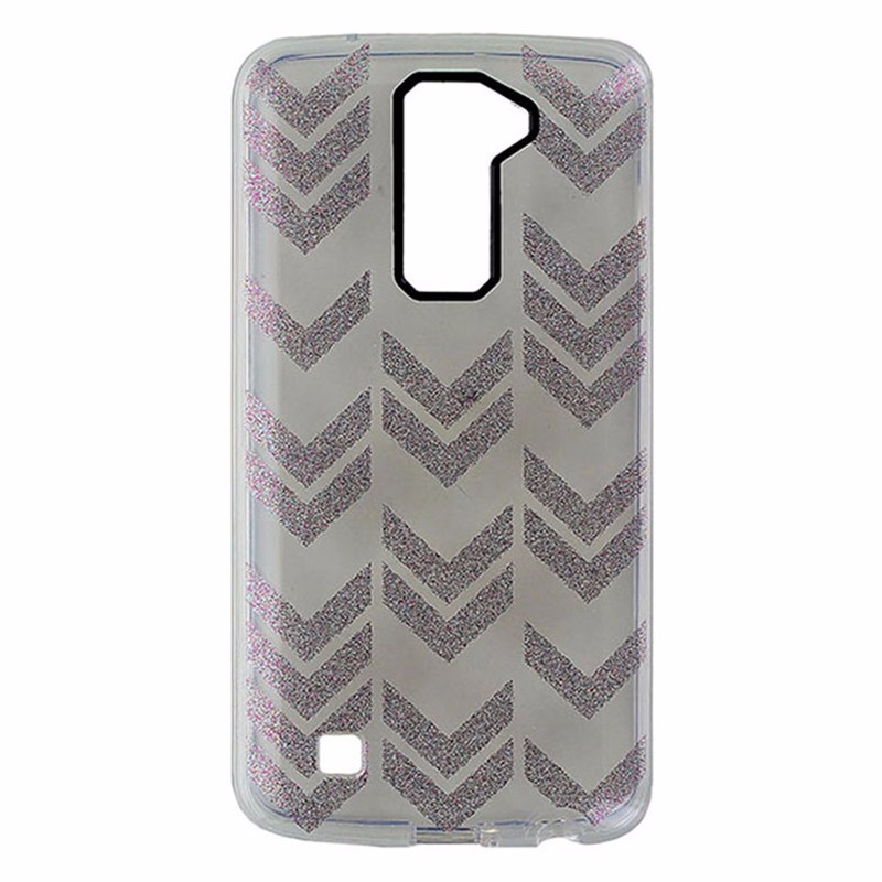 Incipio Design Series Hardshell Case for LG K10 - Clear / Multi Glitter Arrows