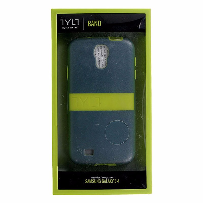 Tylt Band Series Hardshell Case for Samsung Galaxy S4 - Gray / Lime Green