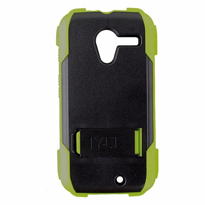 Tylt Ruggd Series Hybrid Kickstand Case for Motorola Moto X - Lime Green / Black