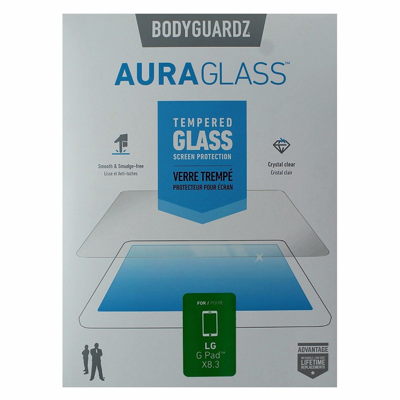 BodyGuardz AuraGlass Tempered Glass Screen Protector for LG G Pad X8.3 - Clear