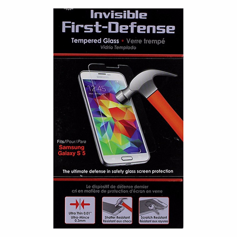 Qmadix Invisible First-Defense Tempered Glass for Samsung Galaxy S5 - Clear