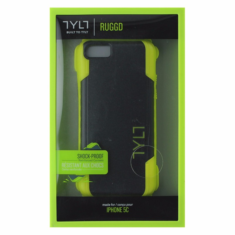 TYLT RUGGD Series Case for Apple iPhone 5C - Lime Yellow/Black