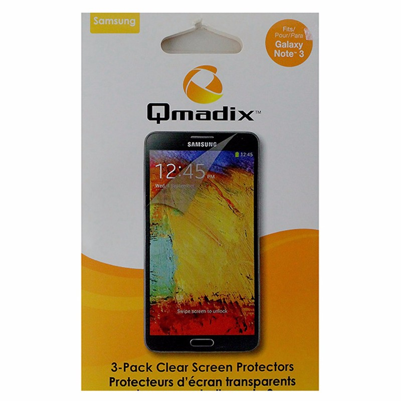 Qmadix Screen Protector for Samsung Galaxy Note3 - Clear