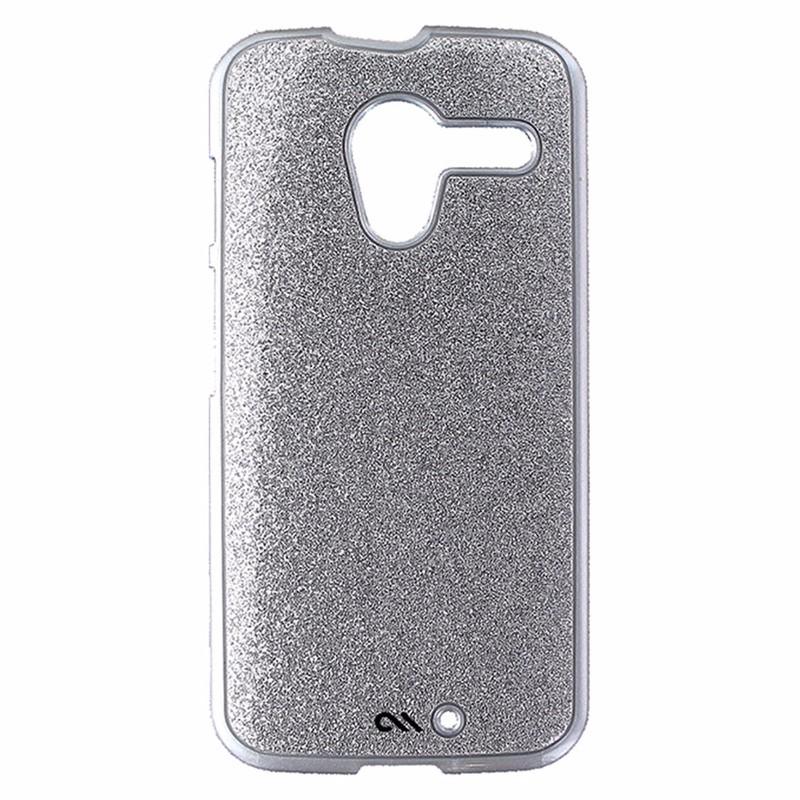 Case-Mate Barely There Series Hardshell Case for Motorola Moto X -Silver Glitter