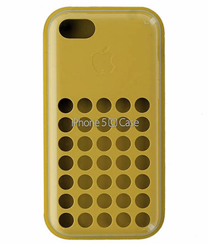 Apple Silicone Case for Apple iPhone 5c - Yellow MF038ZM/A