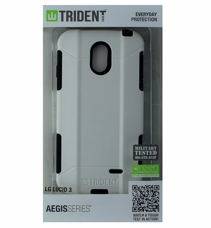 Trident Aegis Series Dual Layer Protection For LG Lucid 3  - White