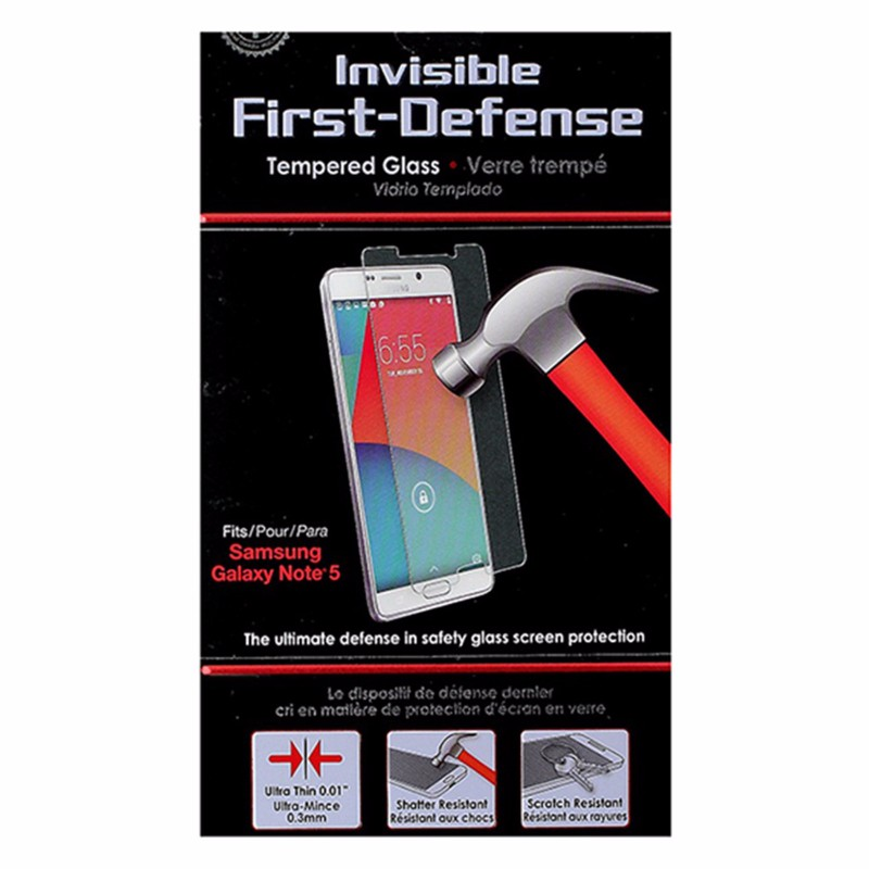 Qmadix Invisible First-Defense Tempered Glass for Samsung Galaxy Note5 - Clear