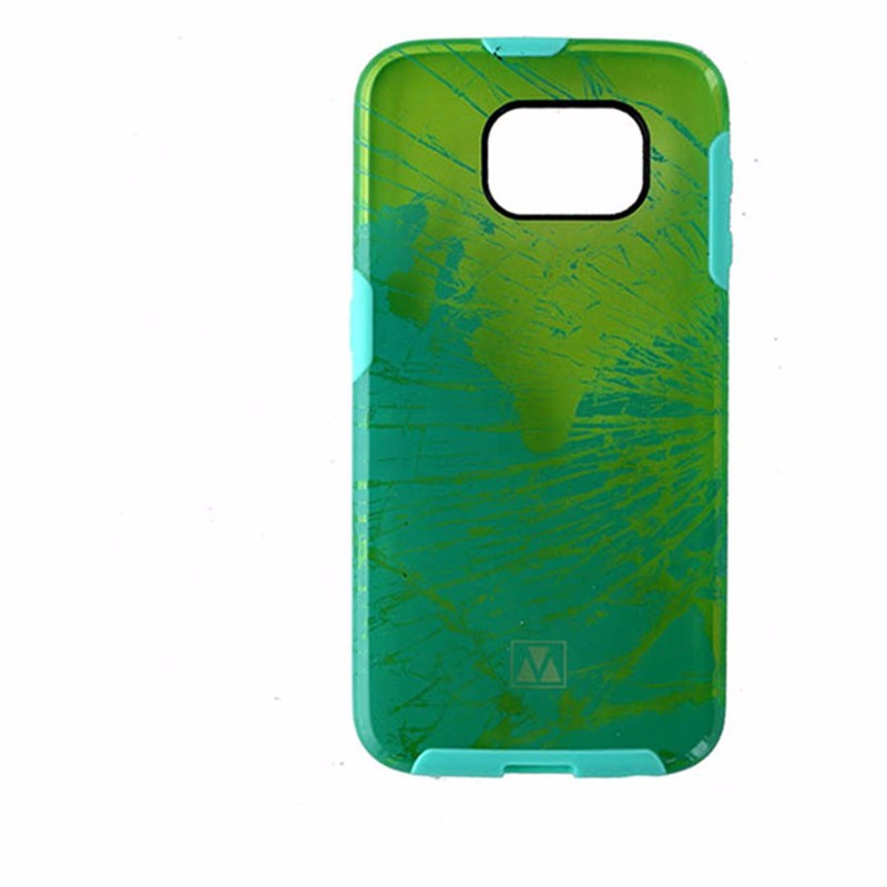 M-Edge Glimpse Hybrid Case for Samsung Galaxy S6 - Transparent Yellow / Teal
