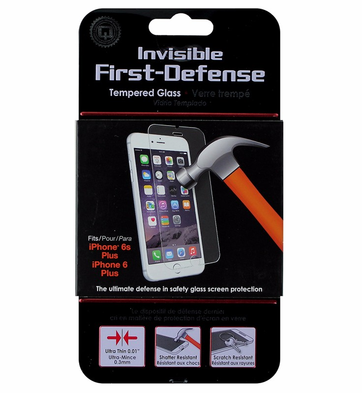 Qmadix Invisible First-Defense Tempered Glass for iPhone 6 Plus/6s Plus - Clear