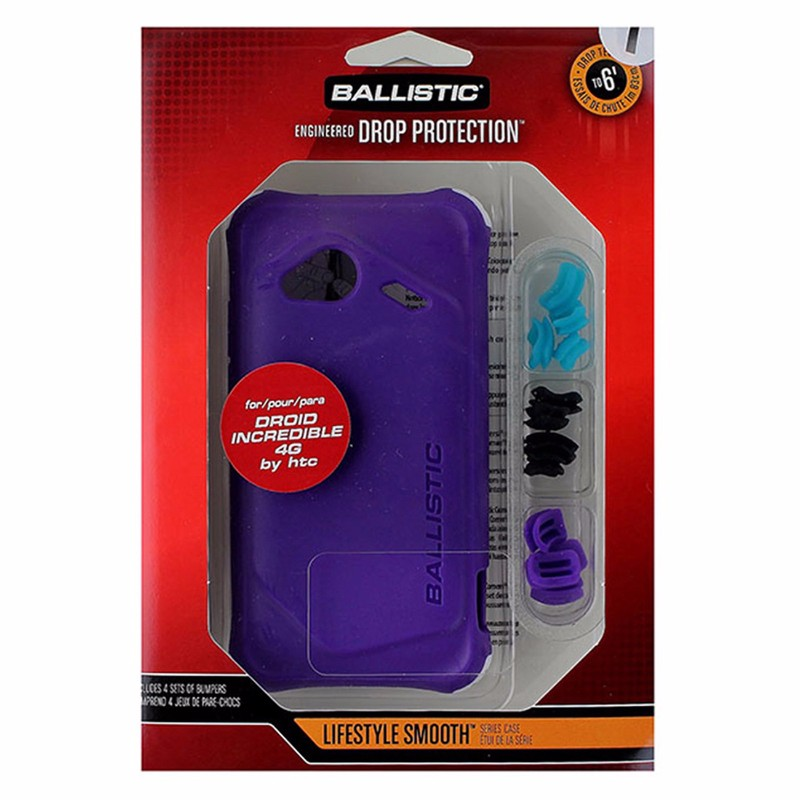 Ballistic Life Style Smooth TPU Case for HTC Incredible 4G LTE - Purple