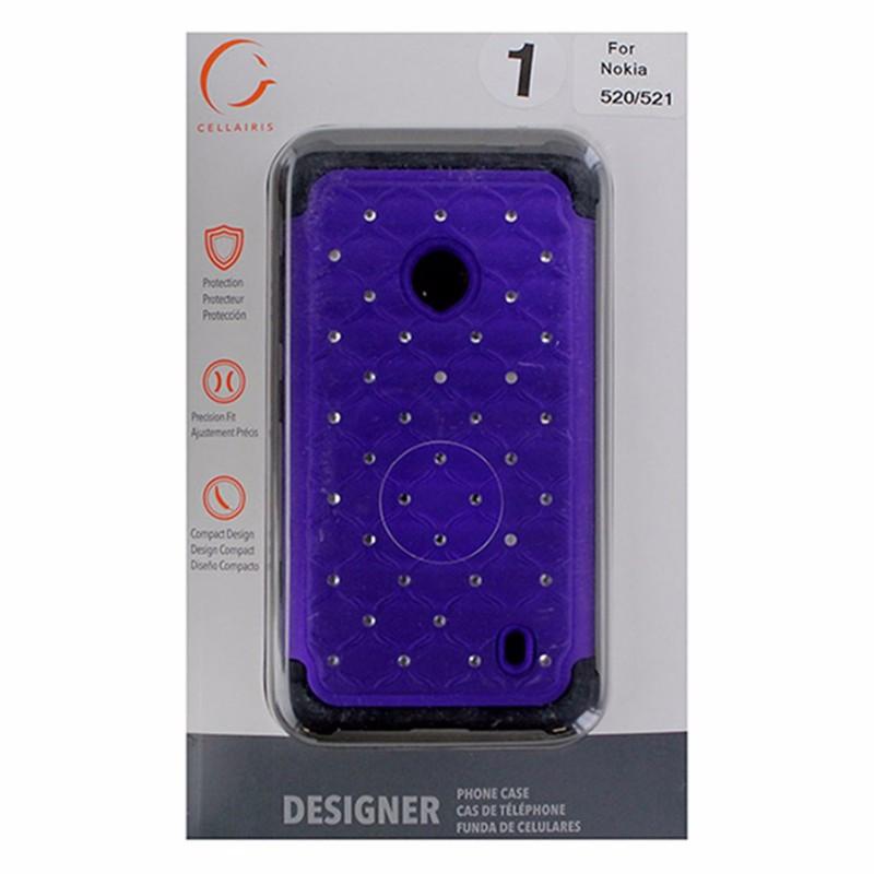 Designer Series Case For Nokia Lumia 520/521- Purple and Black