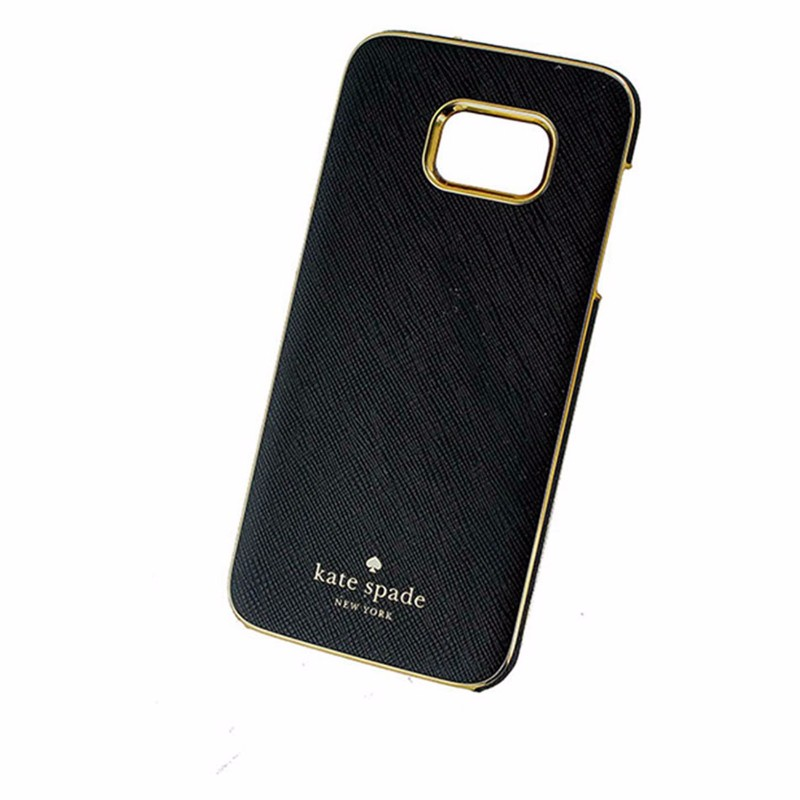 Kate Spade Wrap Series Hardshell Case for Samsung Galaxy S7 Edge - Black / Gold