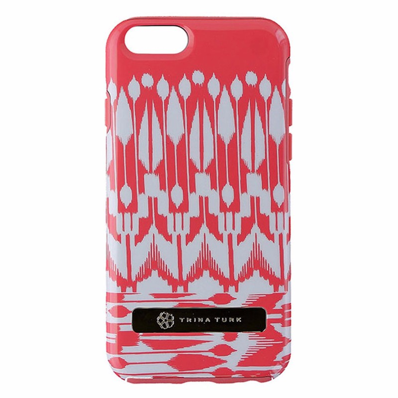Trina Turk Dual Layer Case for iPhone 6/6S - Indio IKat Coral Pink