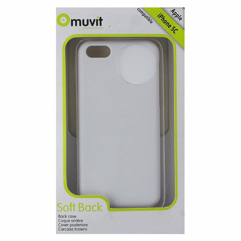 MUVIT Soft Back Case Cover For iPhone 5c MUBKC0747 - White