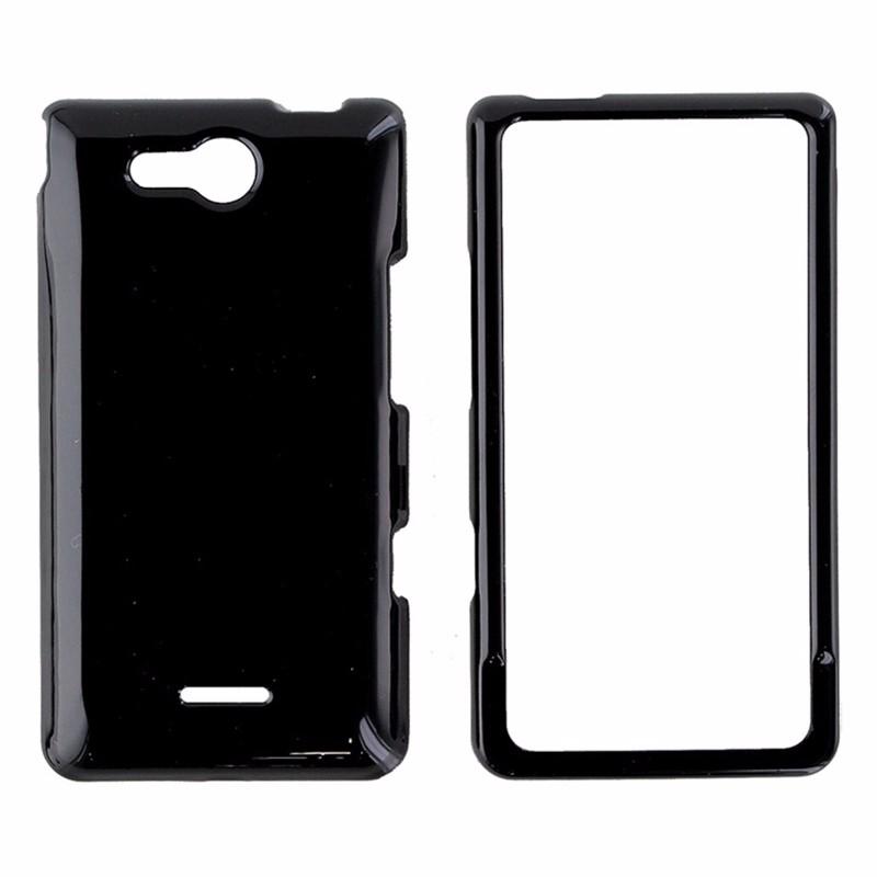 Snap On Hard Plastic Case for LG Lucid 4G VS840 - Black