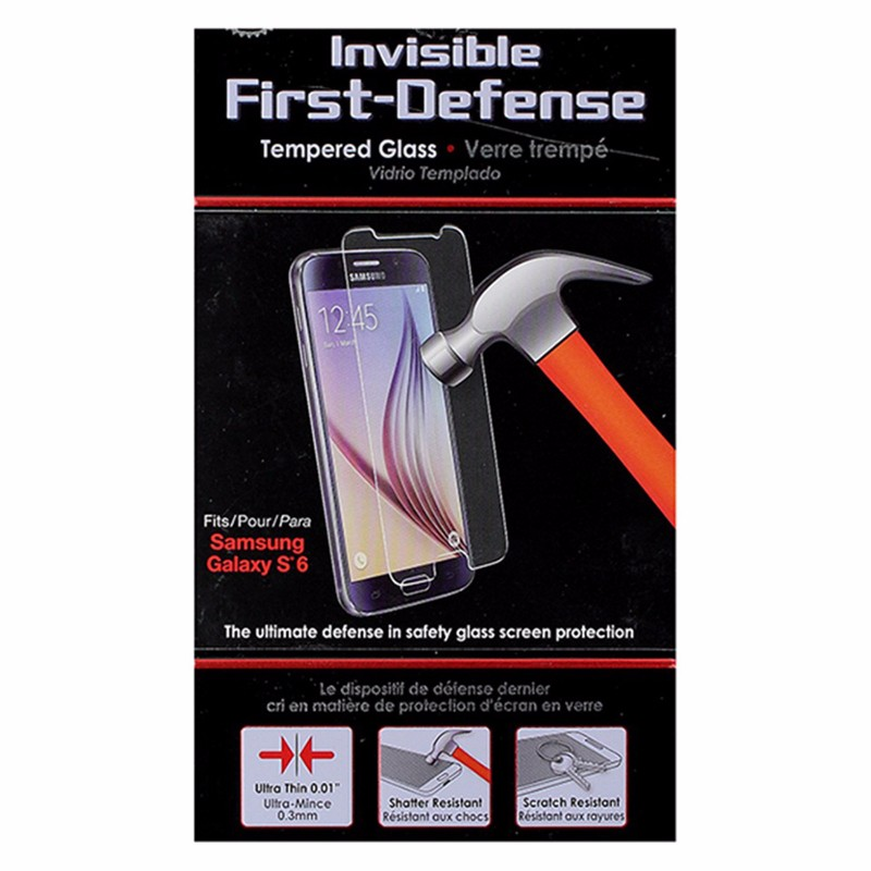 Qmadix Invisible First-Defense Tempered Glass for Samsung Galaxy S6 - Clear
