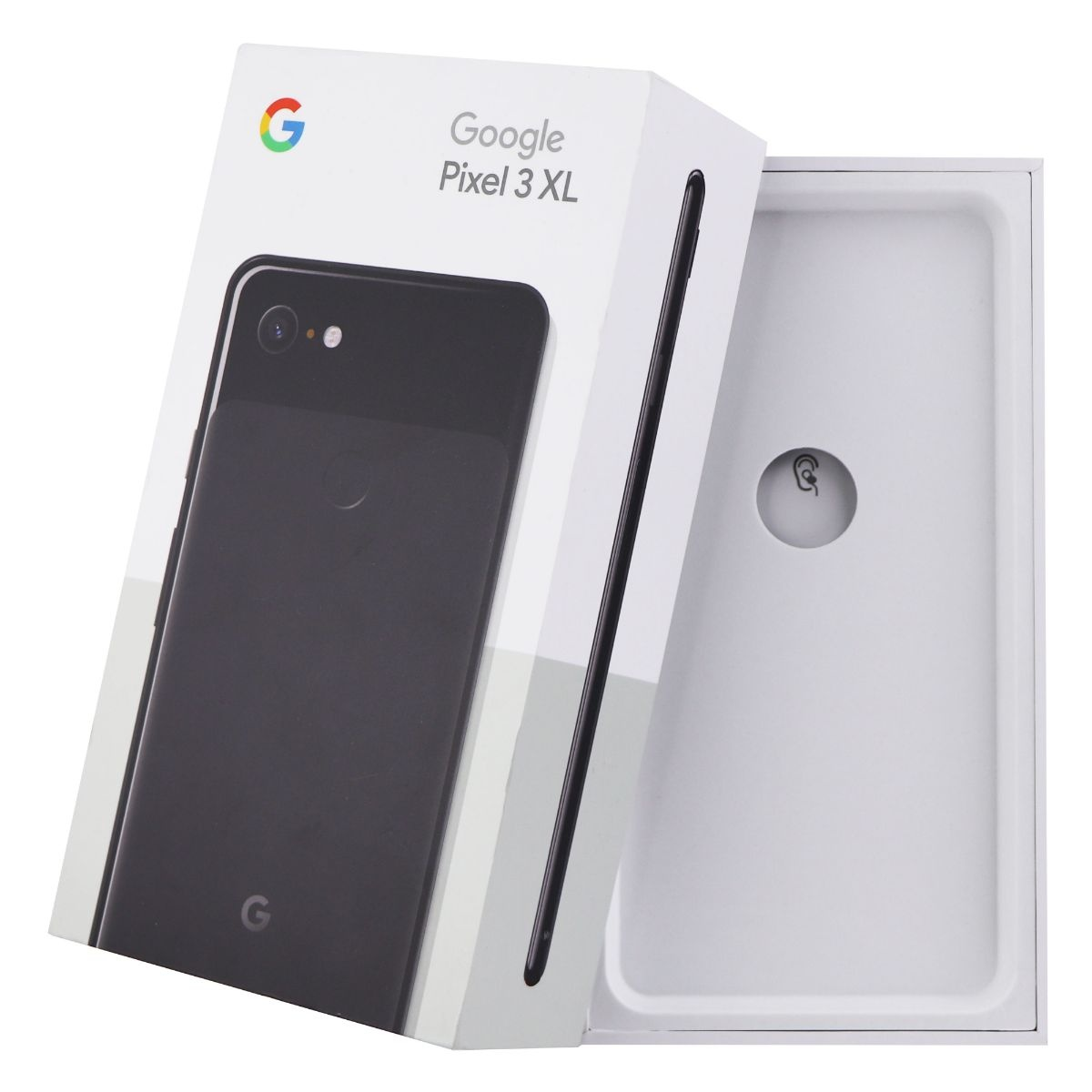 RETAIL BOX - Google Pixel 3 XL - 128GB Just Black - Tray Included - NO DEVICE