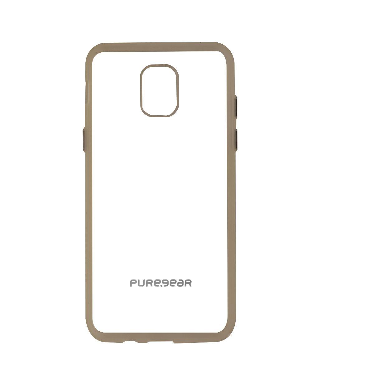 PureGear Slim Shell Hybrid Case for Samsung Galaxy J3 (2018) - Clear