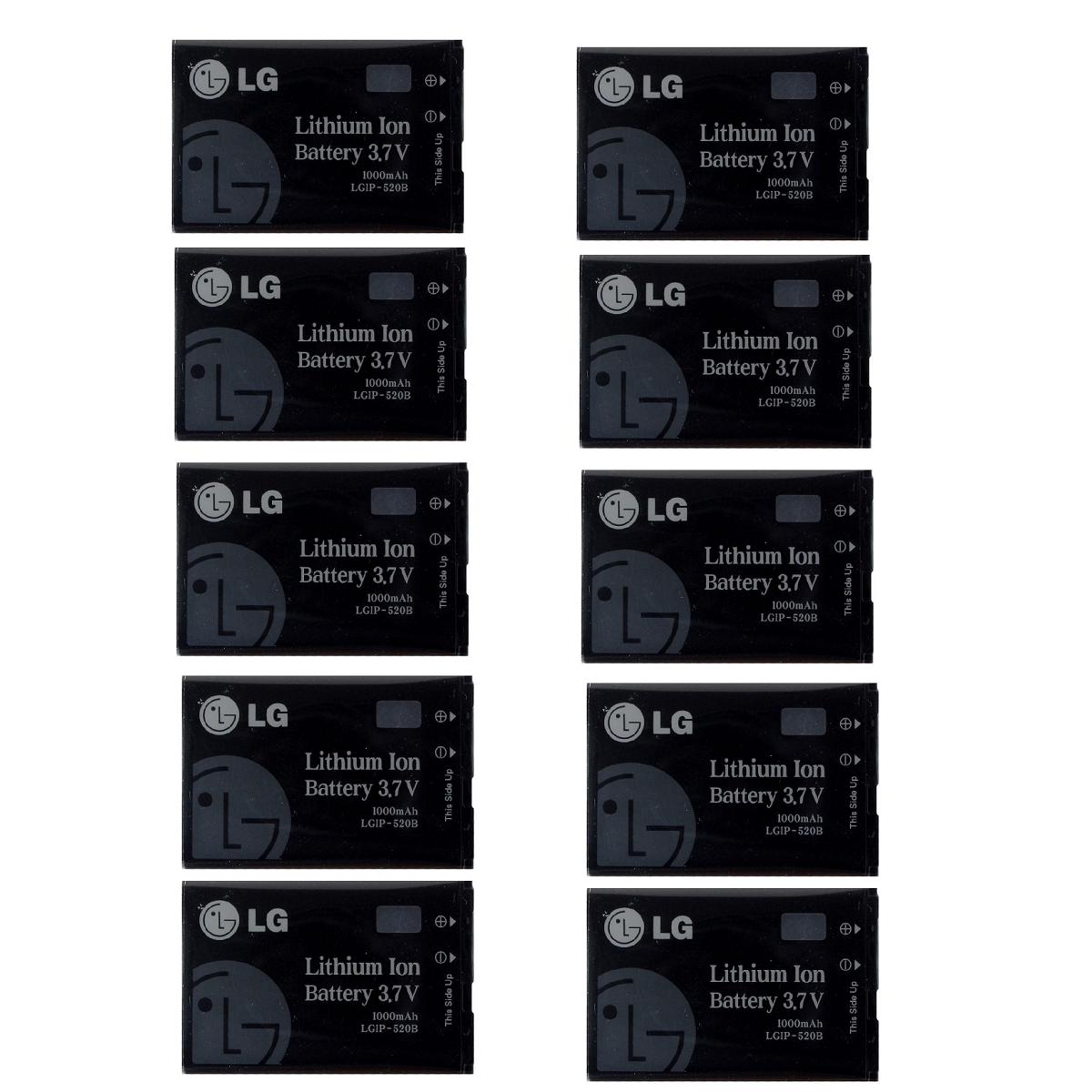 KIT 10x LG Rechargeable 1,000mAh OEM Battery (LGIP-520B) for LG 8350