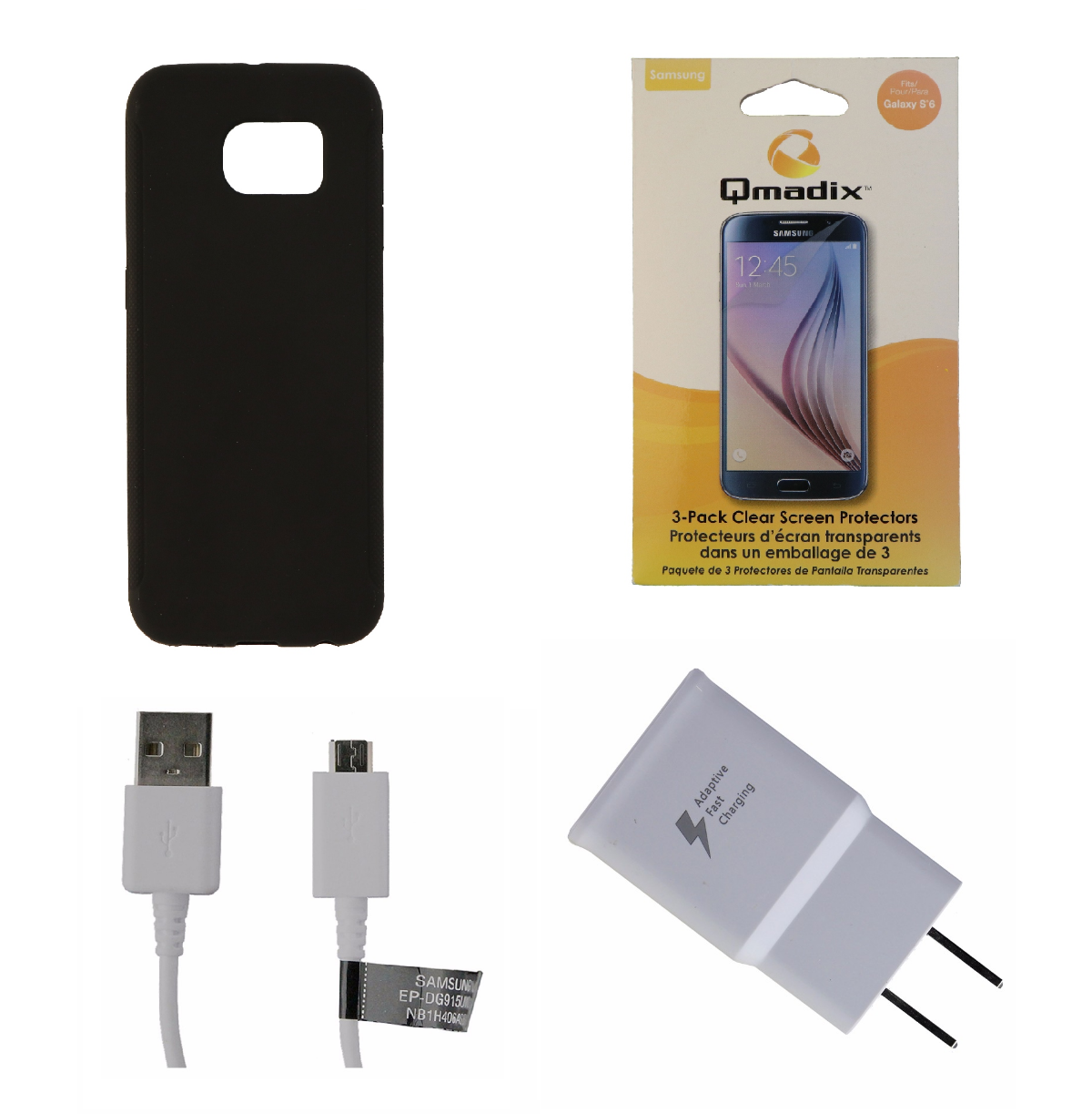 OEM Adapter & Cable + Screen Protector KIT w/ Black Insignia