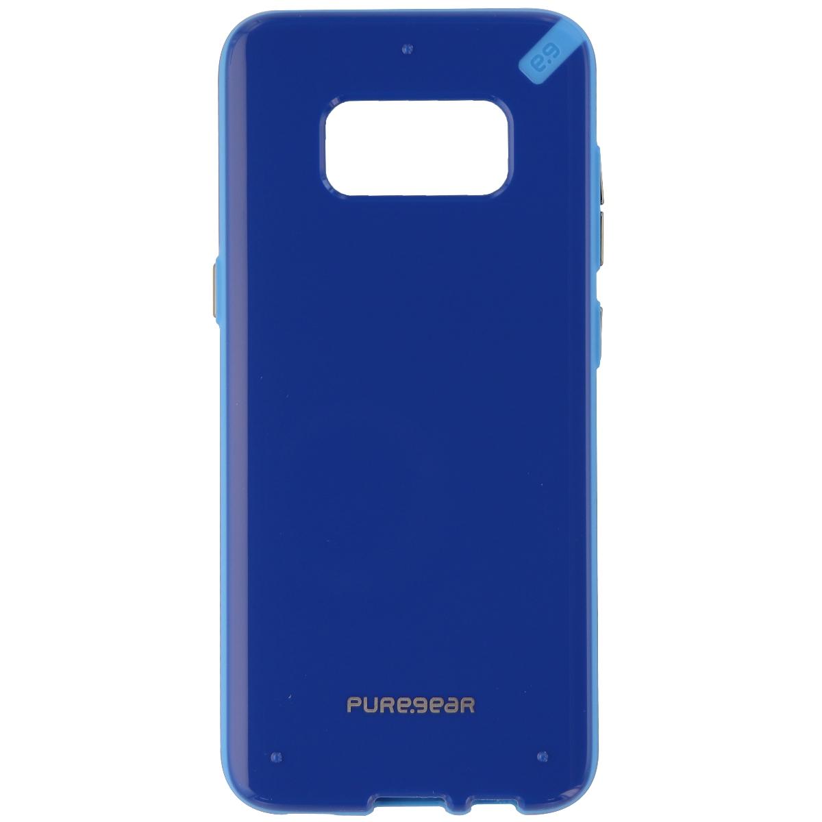 PureGear Slim Shell Series Hybrid Case for Samsung Galaxy S8 - Blue/Light Blue