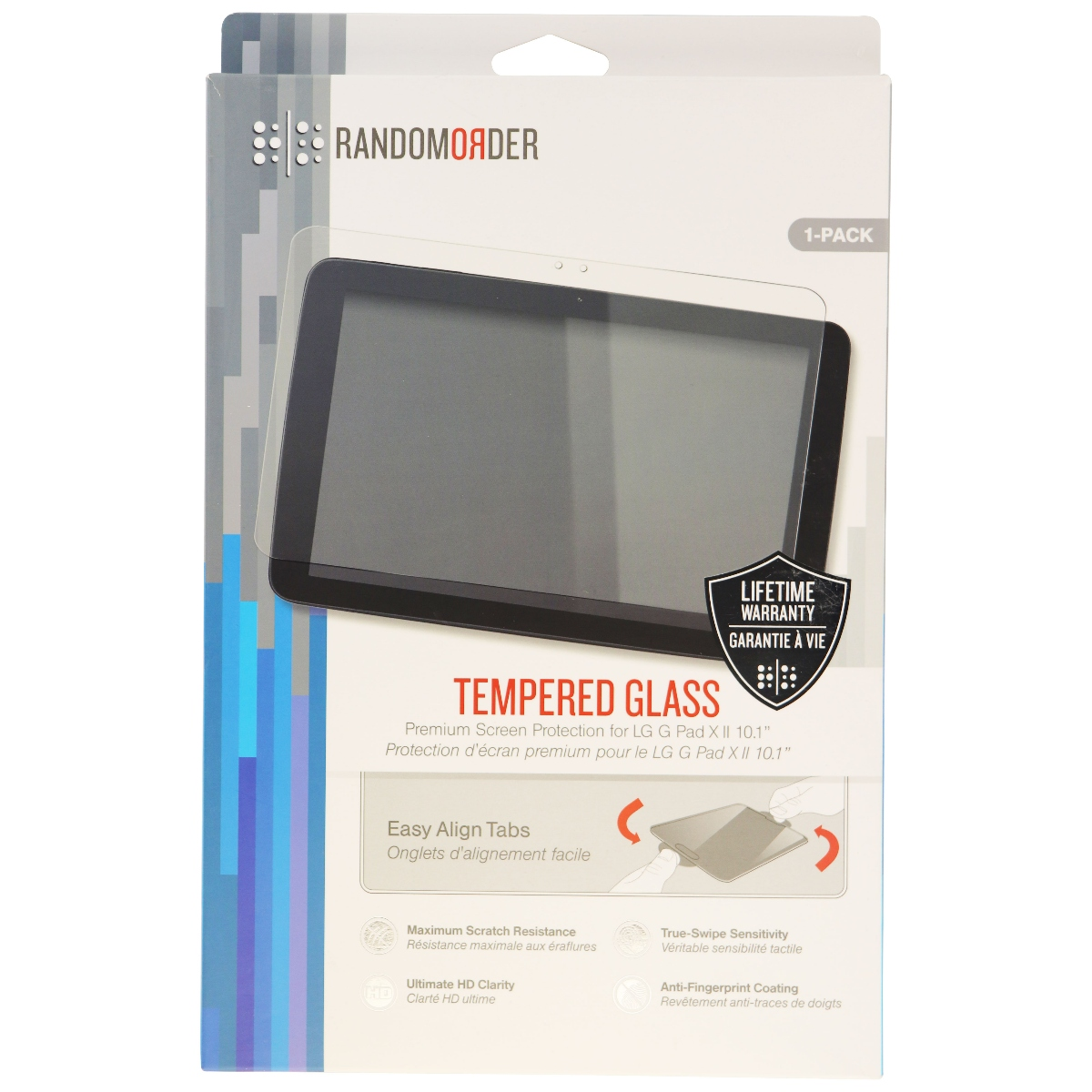 Random Order Tempered Glass Screen Protector for LG G Pad 2 10.1