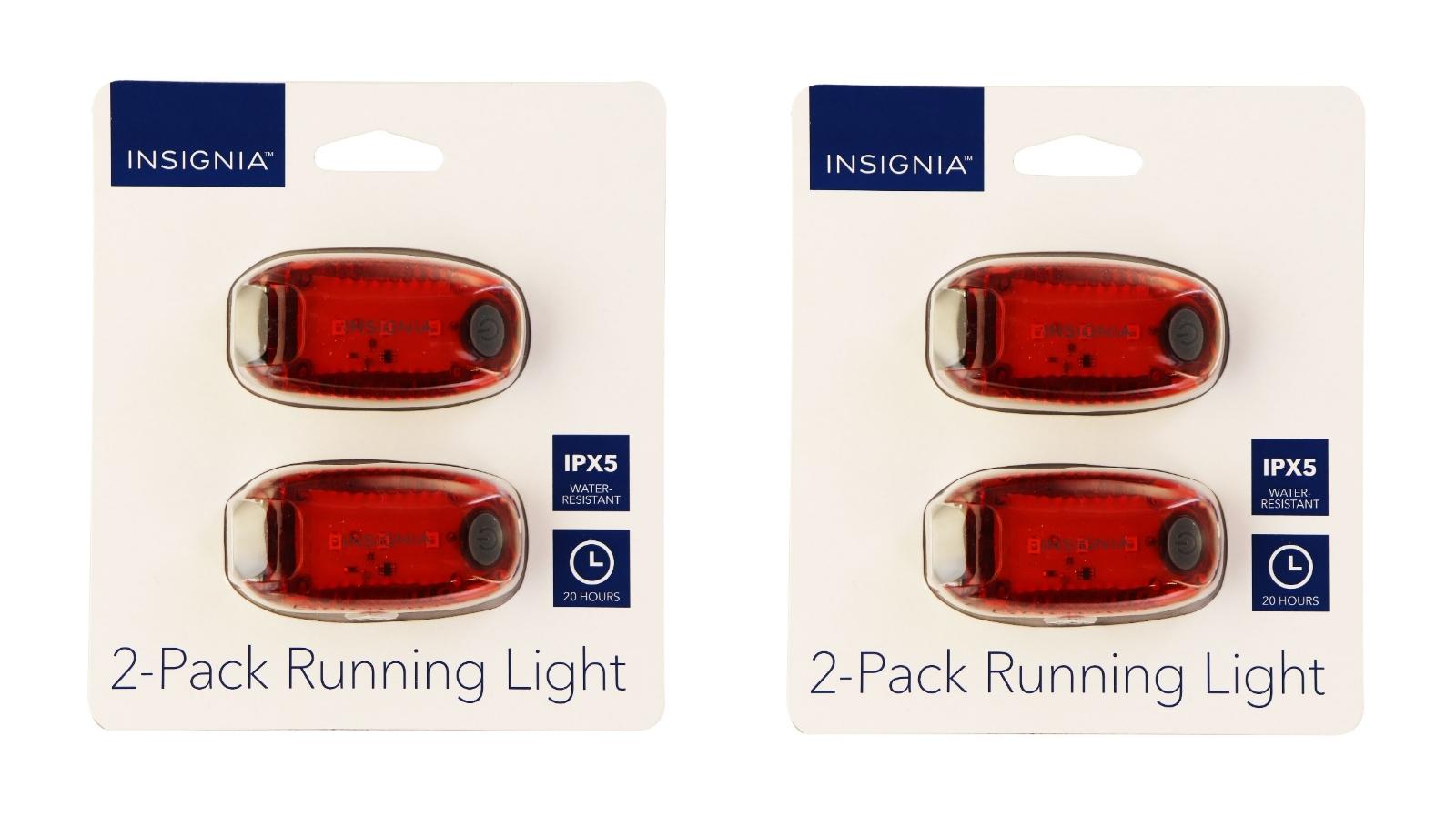 Insignia 2x (2 Pack of LED) Running Lights for Running/Walking/Biking - Red