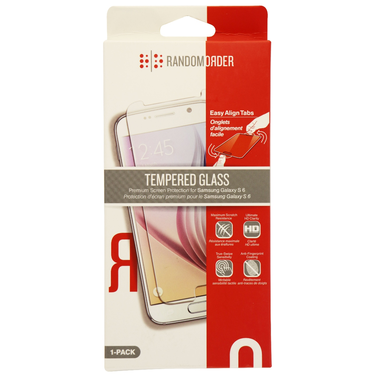 Random Order Tempered Glass Screen Protector for Samsung Galaxy S6 - Clear