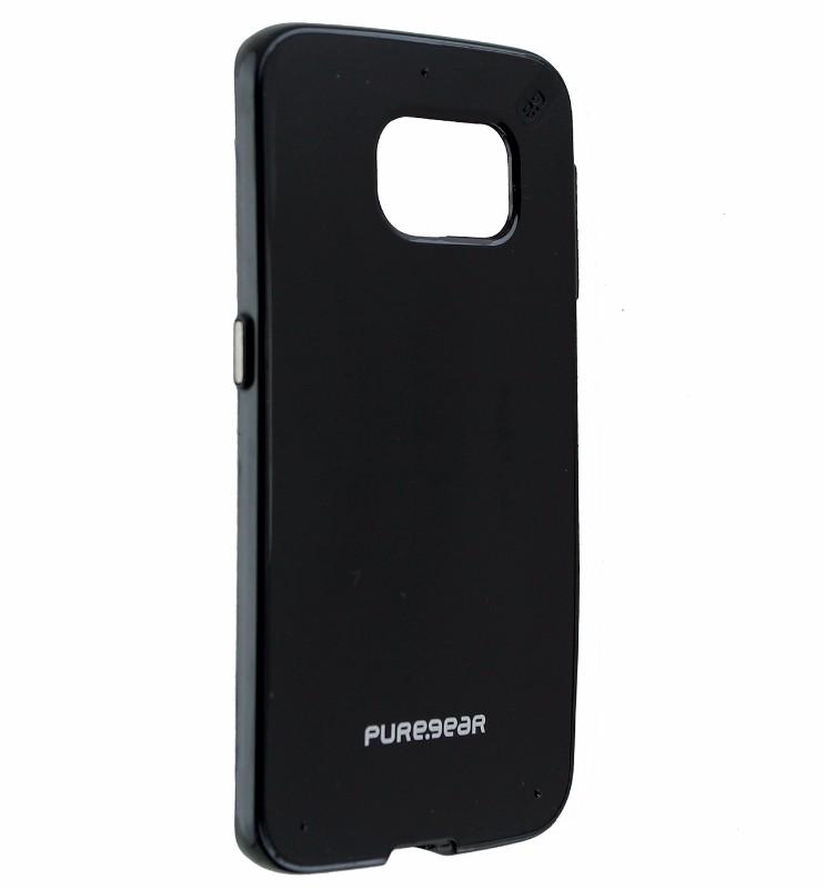 PureGear Slim Shell Hard Case Cover for Samsung Galaxy S6 Edge - Black