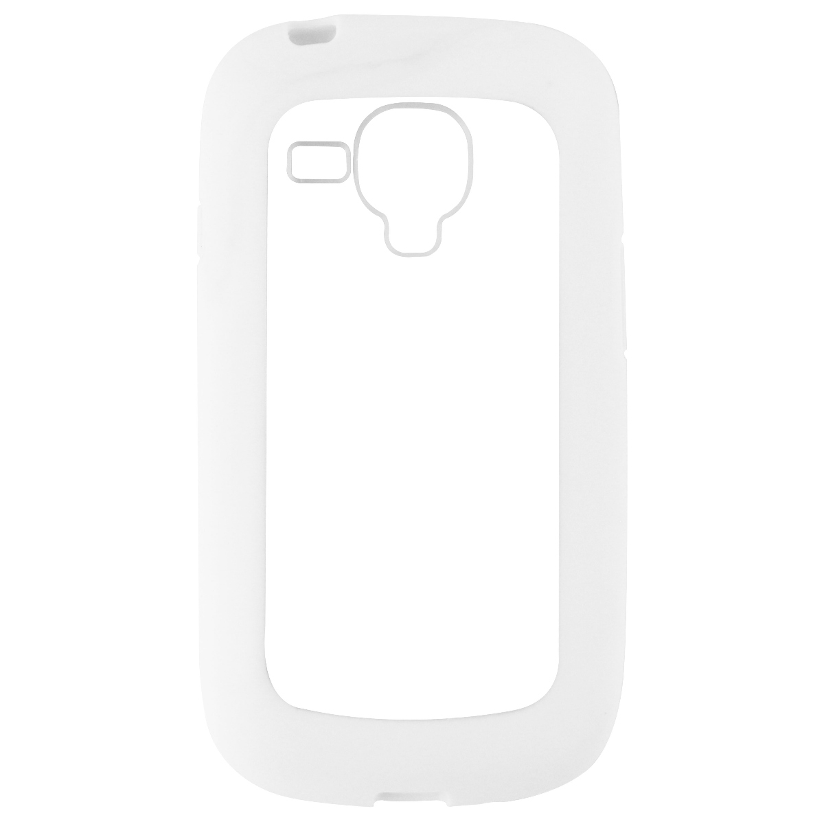 NuClear Gravity Protective Case Cover for Galaxy S3 Mini - White / Clear
