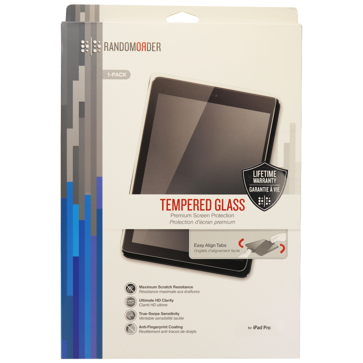 Random Order Tempered Glass Screen Protector for Apple iPad Pro 12.9 - Clear