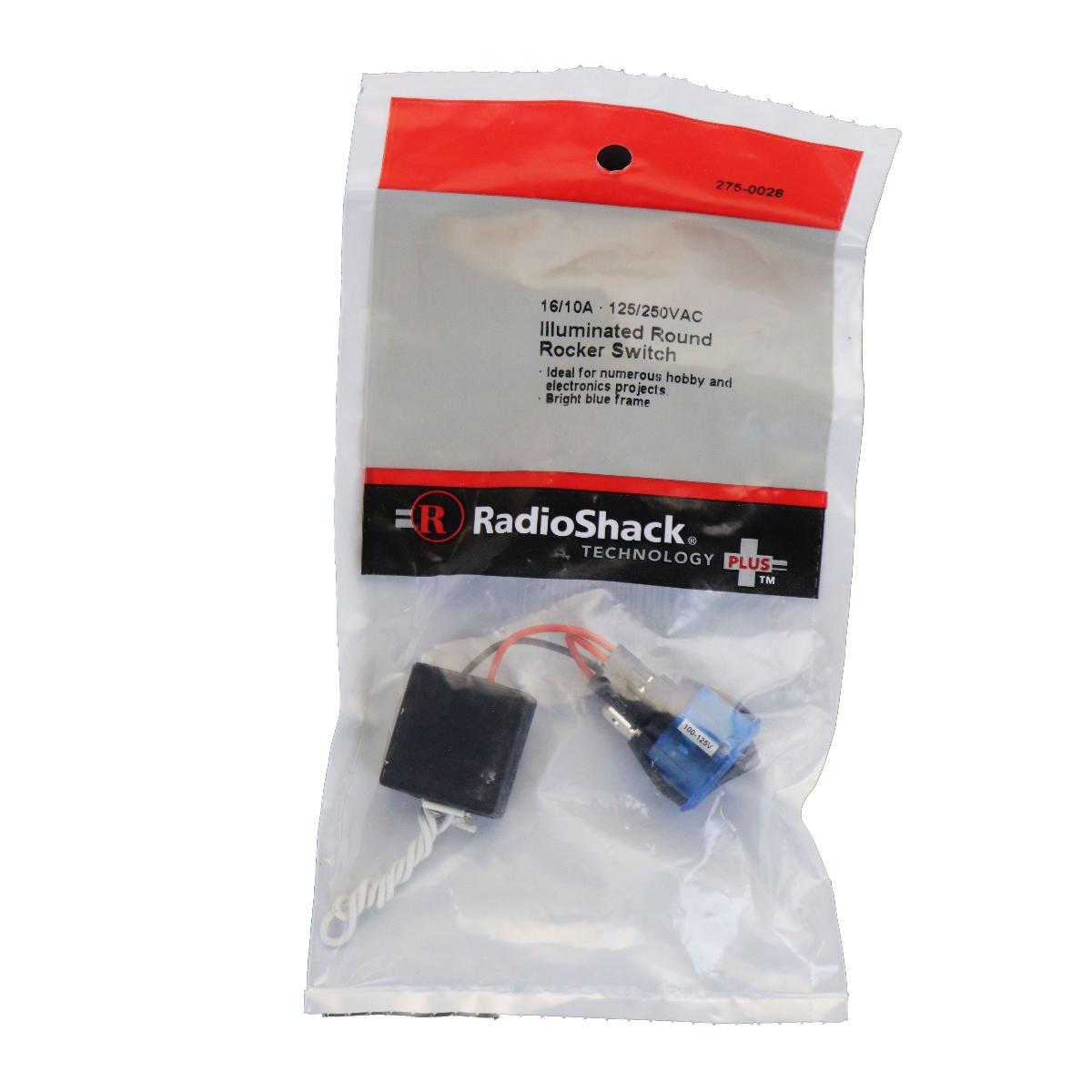 SPST 125/250VAC 16/10A Illuminated Round Rocker Switch