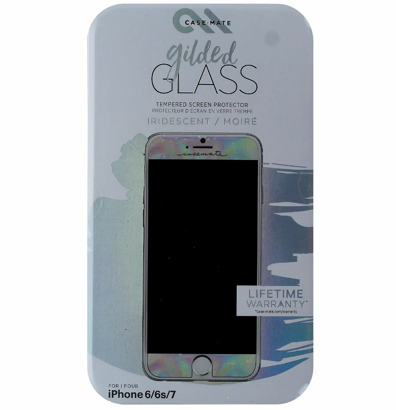 Case-Mate Gilded Tempered Glass Screen Protector for iPhone 7 6s 6 - Iridescent