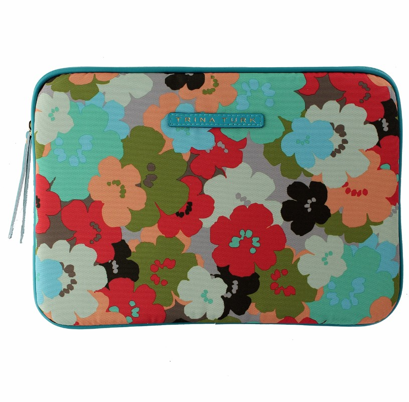 M-Edge Trina Turk Surface Sleeve Case Pouch Cover - Multi Color Floral Large