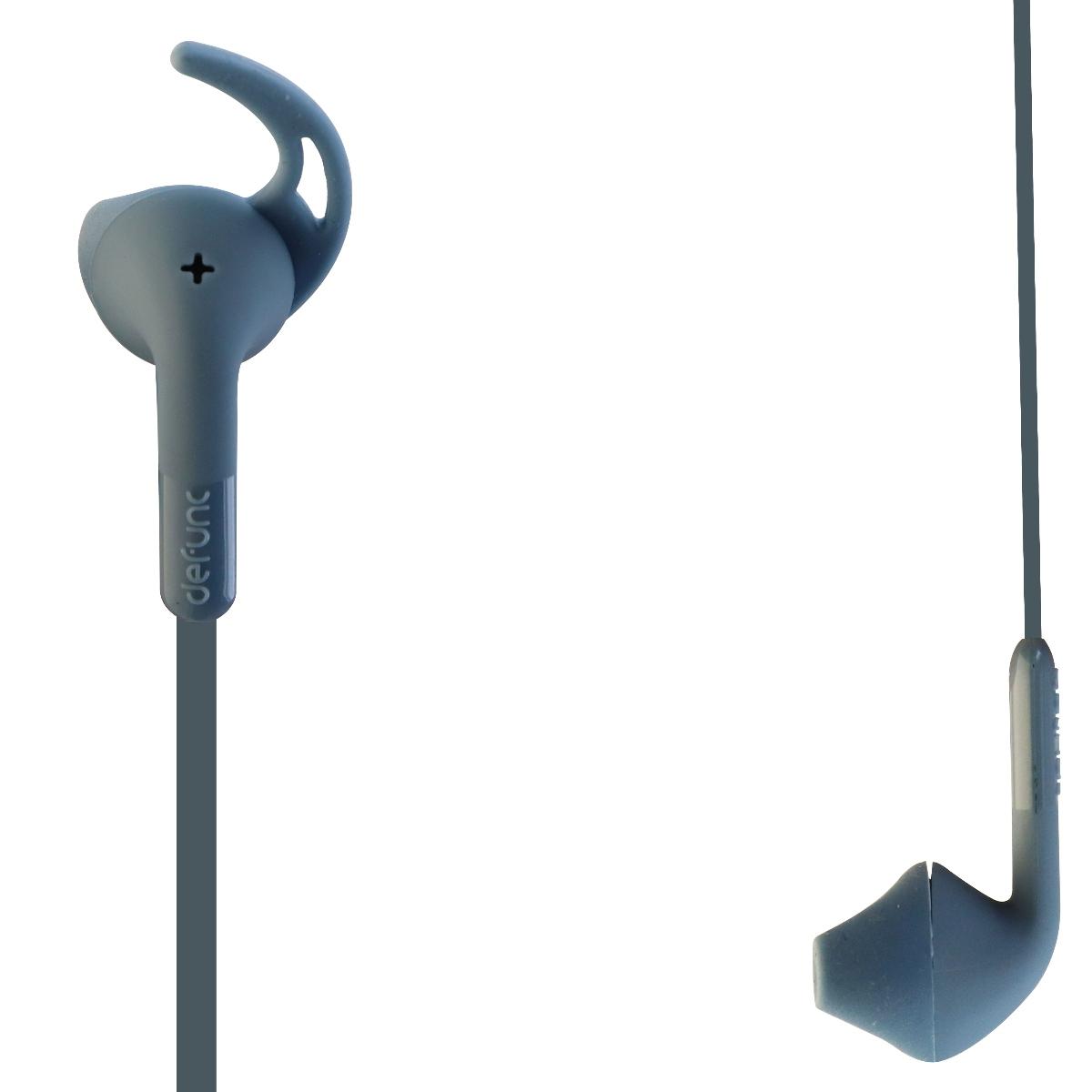 Defunc Sport Secure Fit Water Sweat Resistant Wired In-Ear Headphones - Blue