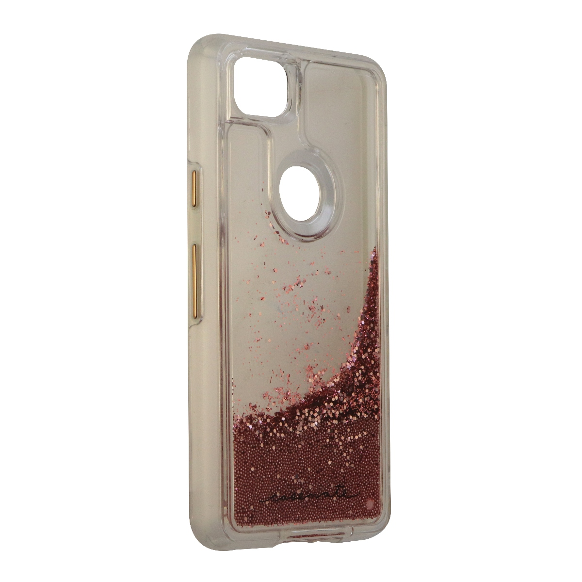 Case-Mate Waterfall Series Case for Google Pixel 2 - Clear/Pink Glitter