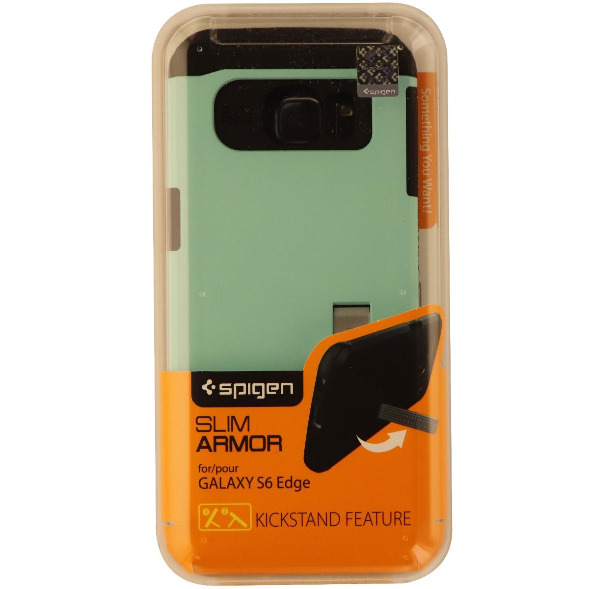 Spigen Slim Armor CS Series Dual Layer Hard Case for Galaxy S6 Edge - Teal/Black