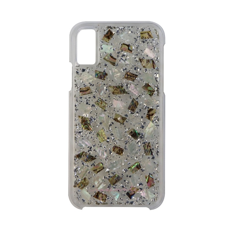 Case-Mate Karat Pearl Series Case for Apple iPhone X 10 - Clear/Silver Flake