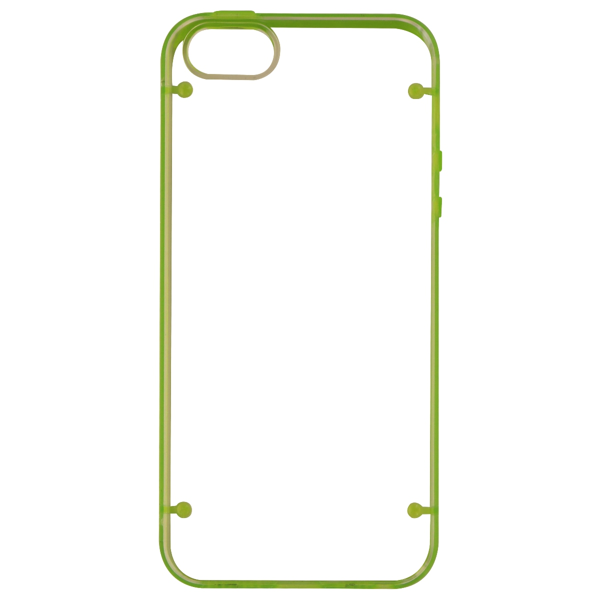 NuClear Protective Case Cover for Apple iPhone SE 5S 5 - Clear / Green