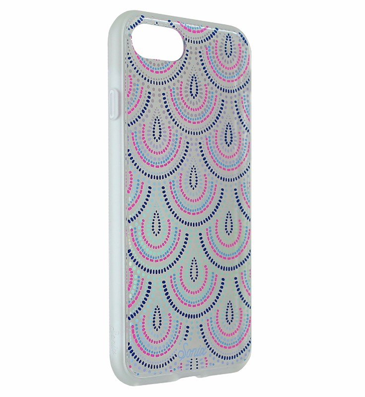 Sonix Clear Coat Hybrid Case Cover for Apple iPhone 8 7 - Tinsley Pink and Blue
